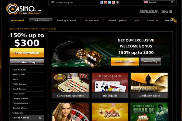 Casino.com screen shot