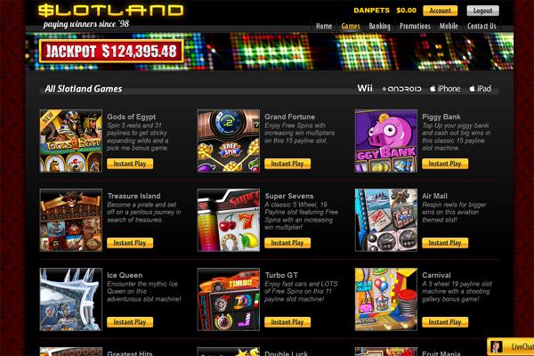 Slotland screen shot