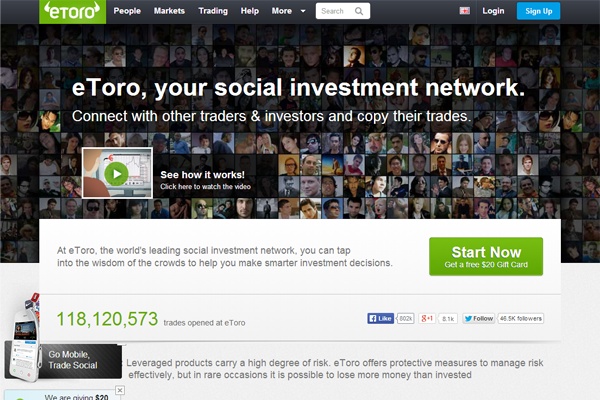 eToro screen shot