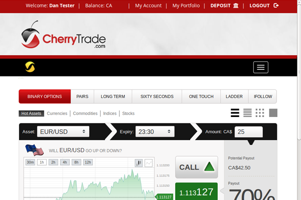 Cherry Trade screen shot