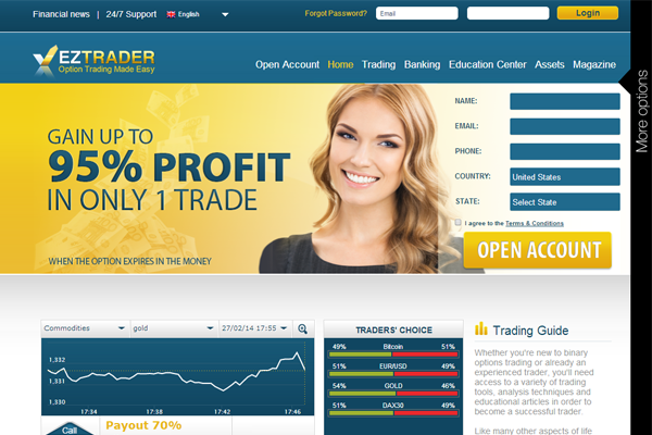 EZ Trader screen shot