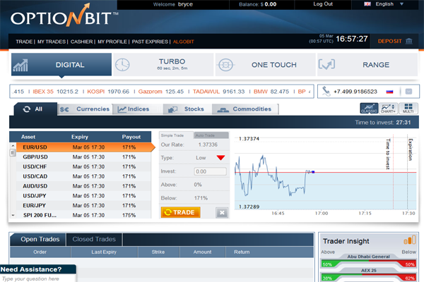 OptionBit screen shot