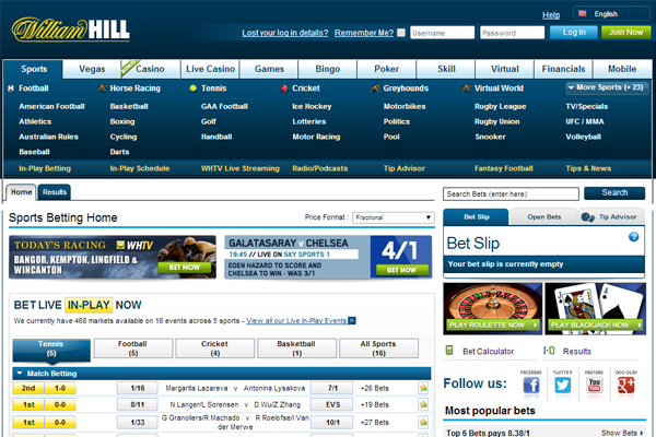 William Hill Sports screen shot
