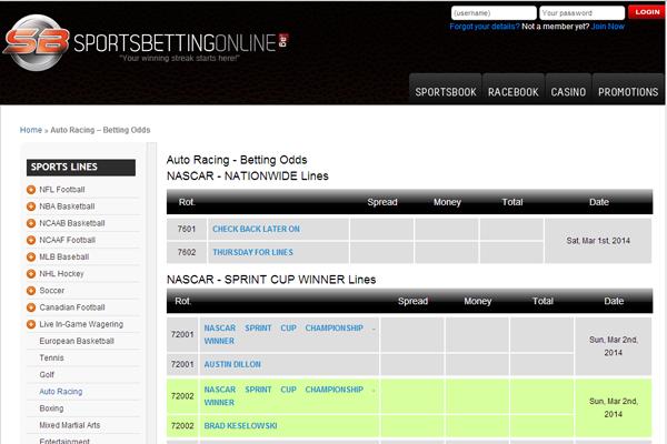 SBO Sportsbook screen shot