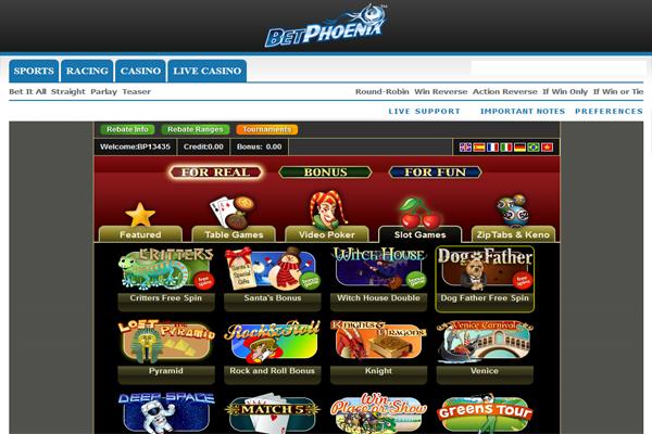 BetPhoenix Casino screen shot