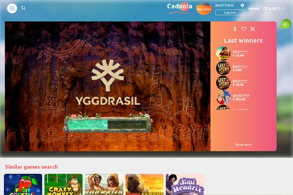 Cadoola Casino screen shot