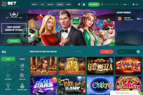22Bet Casino screen shot