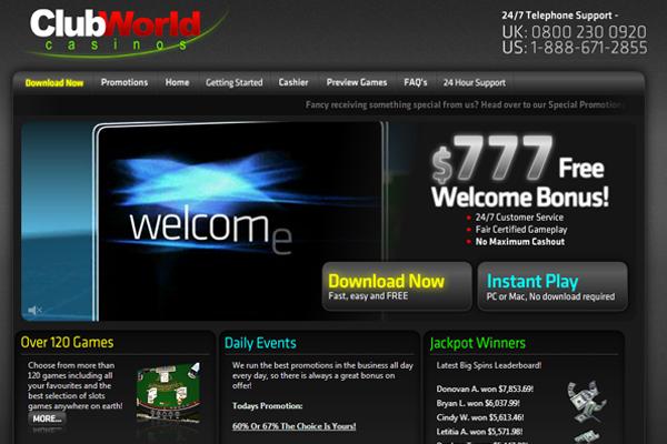 Club World screen shot
