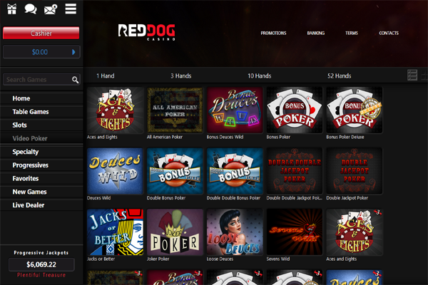 Red Dog Casino screen shot