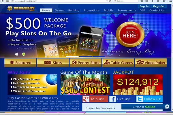 Win A Day Casino screen shot