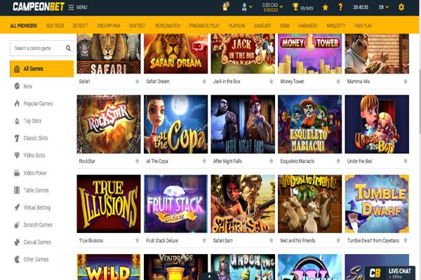 Campeon Casino screen shot