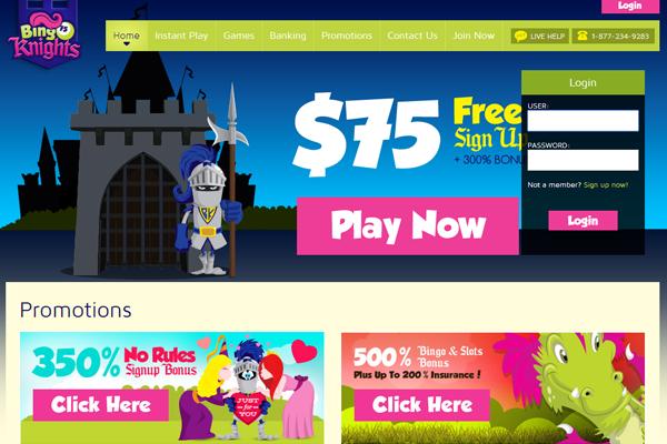 Bingo Knights screen shot