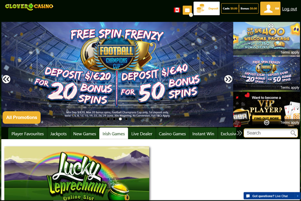 Clover Casino screen shot