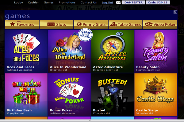 Win A Day Casino screen shot