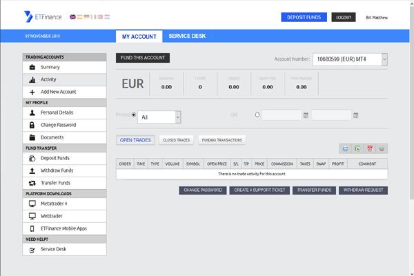 ETFinance screen shot