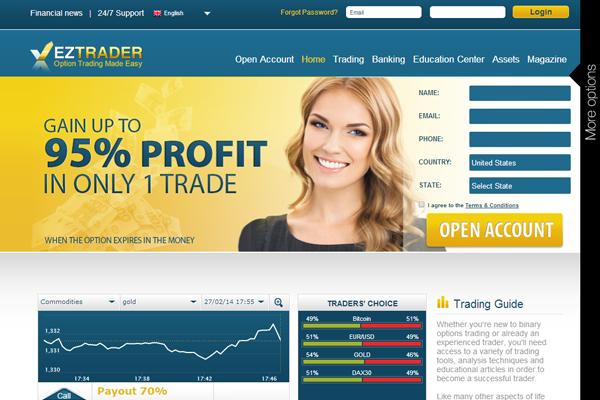 EZ Trader screen shot