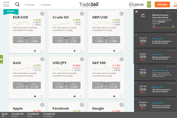 Trade360 screen shot