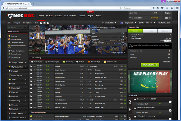 NetBet screen shot