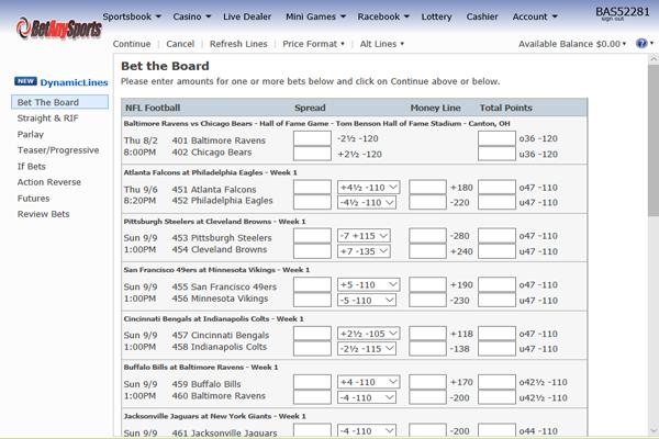 BetAnySports screen shot