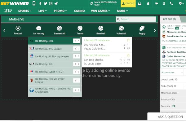 BetWinner screen shot