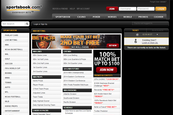 Sportsbook.com screen shot