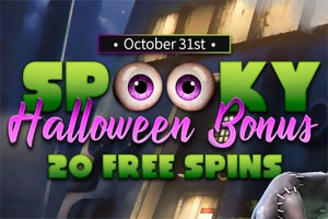 Collect 20 Free Spins on Frankenslot's Monster Slot